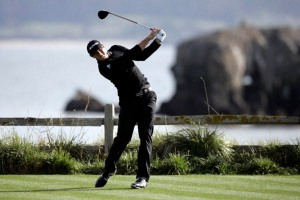 Dustin Johnson, winner of 2009 & 2010 AT&T National Pro Am at Pebble Beach