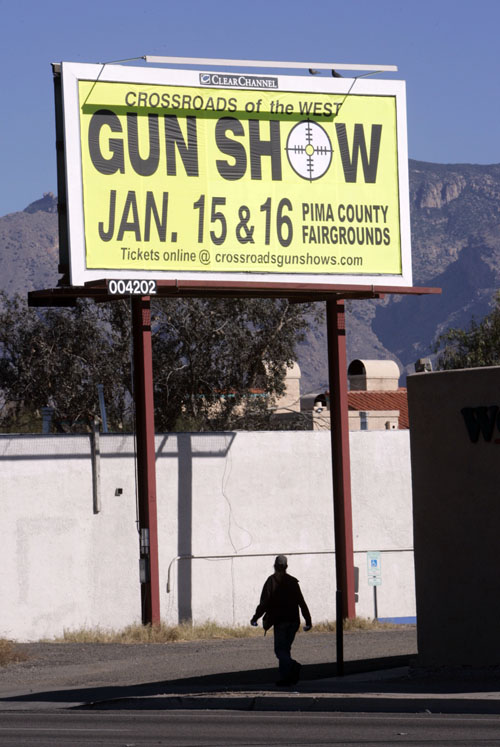 Gun Billboard Leads to Find on Way to Tucson Shooting Site